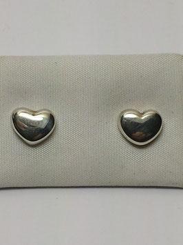 Brincos prata coração caixa alta - PP