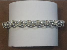 Pulseira prata de cordão fino forrado - PP/PS243.08