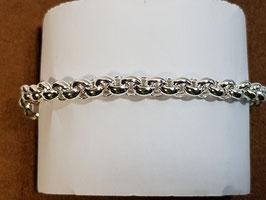 Pulseira prata de cordão fino forrado - PP/PS243.05