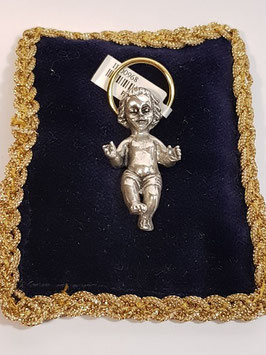 Menino Jesus em almofada - auréola dourada - ARK