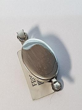 Fecho Colar Prata Caixa Oval Liso - FE00496
