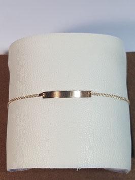 Pulseira de criança em ouro com chapa malha Love - 150.1,5 - MM