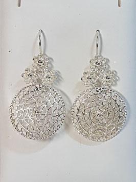 Brincos filigrana em prata flores roda 38.30 - AN