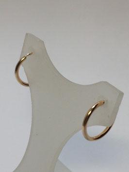 Brincos ouro argola fio redondo 15.1,5 - MM