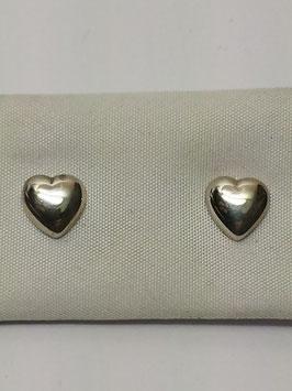 Brincos prata coração redondo - PP