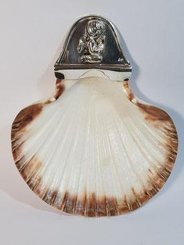 Concha baptismo vieira e prata com anjo 145.120 - RR