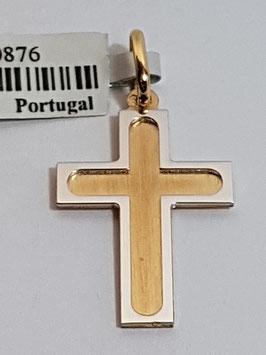Cruz ouro cantos quadrados friso 20.14.4 - AR