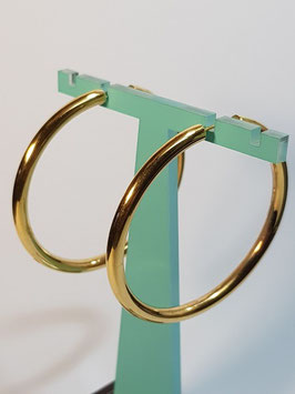 Brincos ouro argola fio redondo 52.4 - AR