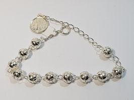 Dezena pulseira em prata de bolas de Viana 8mms - VN