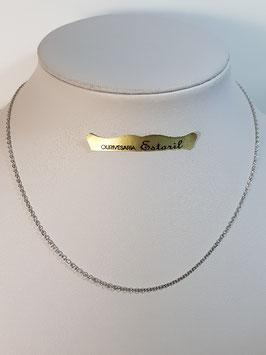 Fio Ouro Branco Cadeado Redondo Fino 1,5 - AR