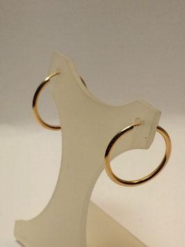 Brincos ouro argola fio redondo 18x1,5 - MM