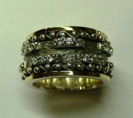 Aliança de Prata e Ouro - ANH1323