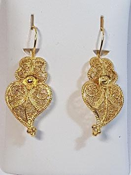 Brincos ouro Coração de Viana 22.32 - MM