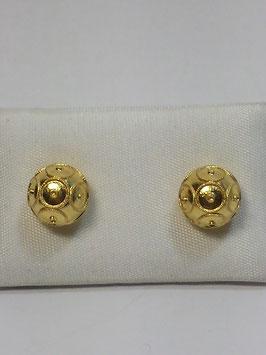 Brincos ouro bola de Viana 7mms