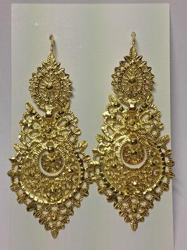 Brincos de Rainha - prata dourada