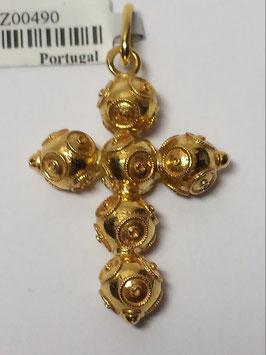 Cruz em ouro chapa de bolas de Viana 6