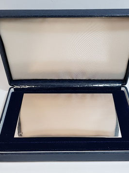 Placa comemorativa rectangular em prata 100.60 - PP