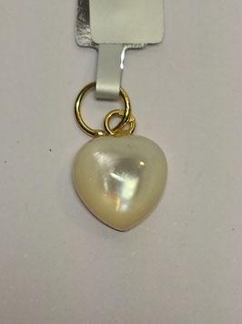 Coração madre-pérola e ouro 10