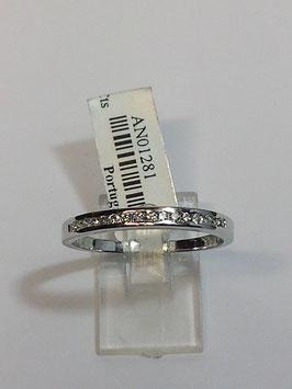 Anel ouro branco e 15 diamantes - 1/2 memória calibré - 2,4 JM