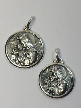 Medalha Nossa Senhora do Carmo e Sagrado Coração de Jesus - Escapulário - PP