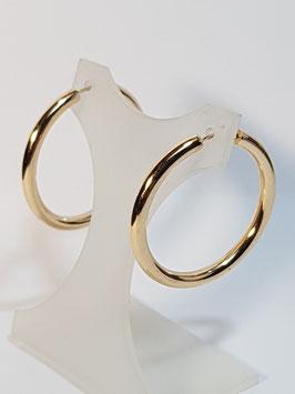 Brincos ouro argola fio redondo 31.3 - MM