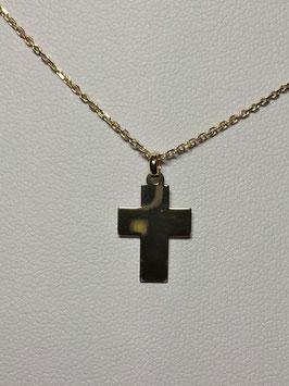 Fio Ouro 9kts com cruz lisa