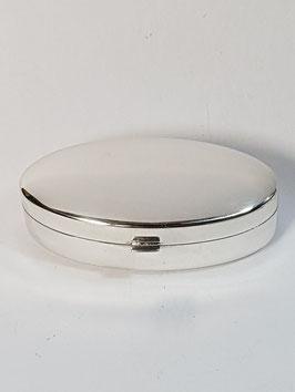 Caixa oval em prata amendoada - PP