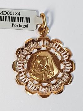 Medalha Nossa Senhora de Perfil com Aro 23