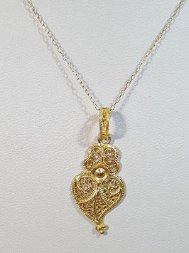 Fio Ouro Coração de Viana Filigrana 30.22 - MM