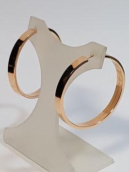 Brincos ouro argola redonda de fio rectangular 40.4.1,5 - MM