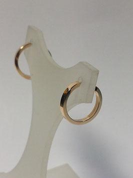 Brincos ouro argola fio quadrado 10.1,6 - AR