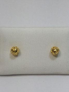 Brincos ouro bola de Viana 4mms