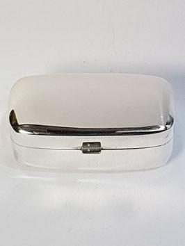 Caixa rectangular em prata amendoada - PP