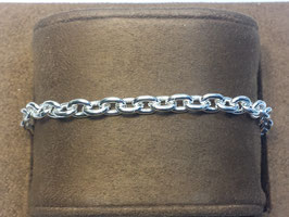 Pulseira prata de cadeado redondo 140 - PP