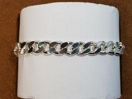 Pulseira prata barbela lapidada 200.21 - PP
