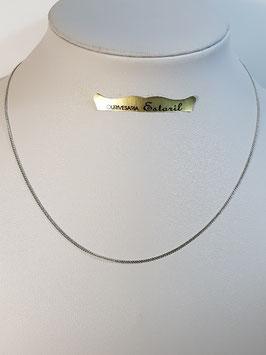 Fio Ouro Branco Barbela Lapidada Fina 1,2 - AR