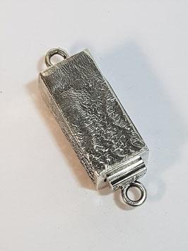 Fecho Colar Prata Rectangular Tubo Quadrado - FE00123
