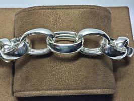 Pulseira prata de argolões ovalizados - PP / PS224.03