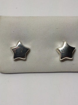 Brincos prata estrela de caixa alta - PP