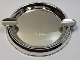 Cinzeiro liso em prata com contas
