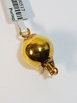 Fecho Colar Prata Dourada - Bola 12 Lisa - PP