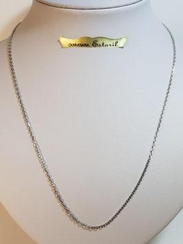 Fio Ouro Branco Cadeado Lapidado 60.1,7 - FIN