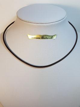 Fio cabedal e prata - castanho 2,5mms - PP
