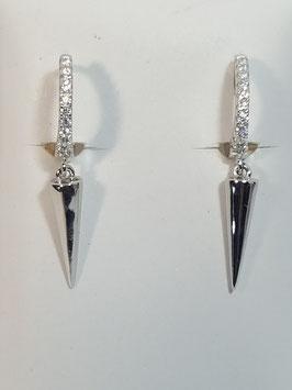Argolas prata zircónias + prego - RR