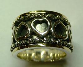 Aliança de Prata e Ouro - ANH1271