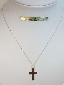 Fio ouro cadeado fino com cruz quadrada larga 20.14.4 - MM