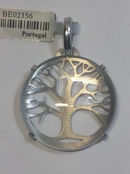Árvore Vida Prata Com Vidro