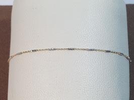 Pulseira Ouro cadeado travessões 18 - MM