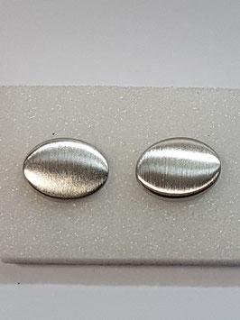 Botão de Punho Oval Escovado - RR
