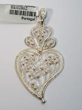 Coração de Viana de filigrana em prata - aberto 46.36 - AN